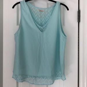 Skies are Blue Sleeveless Blouse